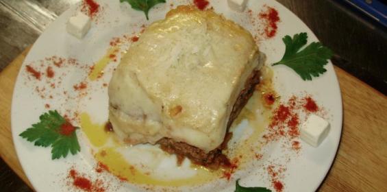 Moussaka at Hellenikon Greek Restaurant, Porto