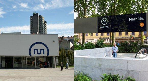 Porto Metro station signs